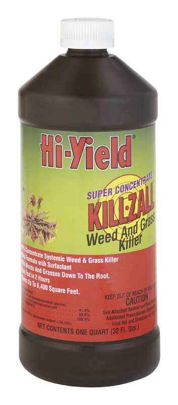 Hi-Yield  Killzall  Weed and Grass Killer  Concentrate  32 oz.