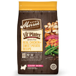 Merrick  Lil Plates  Chicken and Sweet Potato  Dry  Dog  Weight Management Food  Grain Free 4 lb.