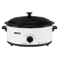 Nesco White Porcelain 6 qt. Electric Roaster 9.25 in. H x 12 in. W x 17 in. L