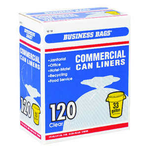Business Bags  Commercial  33 gal. Commercial Drum/Can Liners  Twist Tie  120 pk