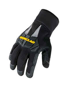 Ironclad  Medium  Synthetic Leather  Cold Weather  Black  Gloves