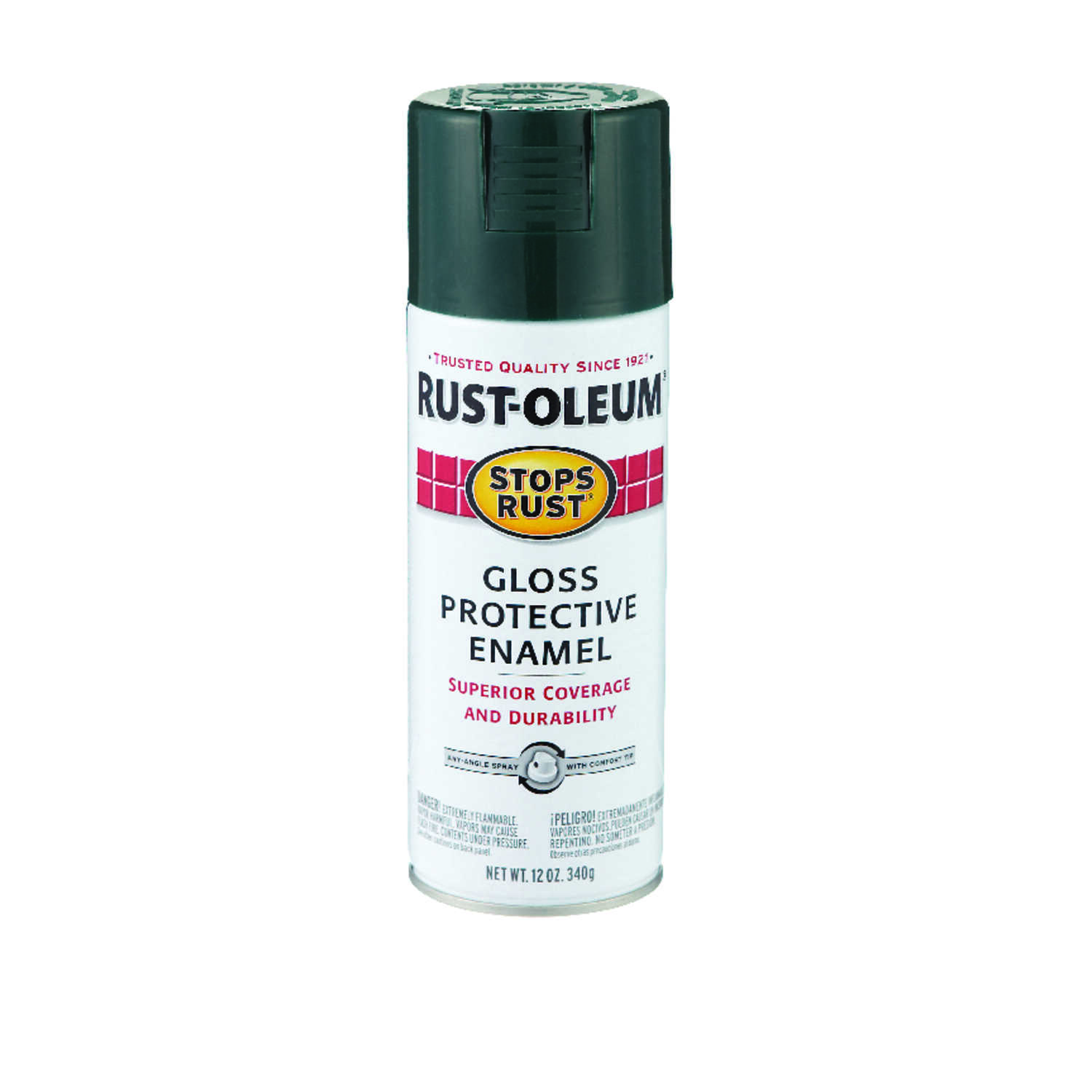 Rust-Oleum  Stops Rust  Gloss  Dark Hunter Green  Spray Paint  12 oz.