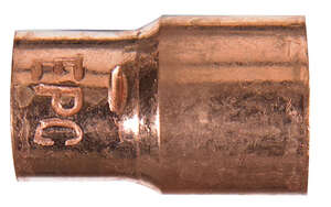 Elkhart  1/2 in. Sweat   x 3/8 in. Dia. Sweat  Copper  Coupling With Stop