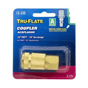 Tru-Flate Brass Air Coupler 1/4 in  Female 1 pc  - Ace Hardware