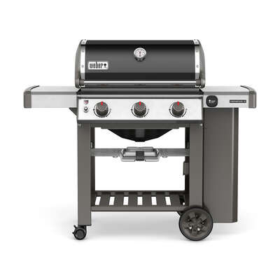 Weber  Genesis II E-310  Natural Gas  Grill  Black  3 burners