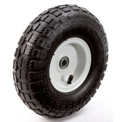 Farm and Ranch 6 in. Dia. x 10 in. Dia. 300 lb. capacity Centered Tire Rubber 1 pk