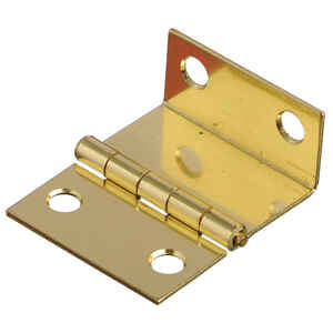 Ace  1-1/2 in. L Bright Brass  Steel  Shutter Hinge  2 pk
