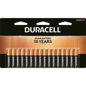 Duracell  Coppertop  AAA  Alkaline  Batteries  1.5 volt 16 pk Carded