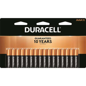 Duracell  Coppertop  AAA  Alkaline  Batteries  1.5 volts 16 pk Carded