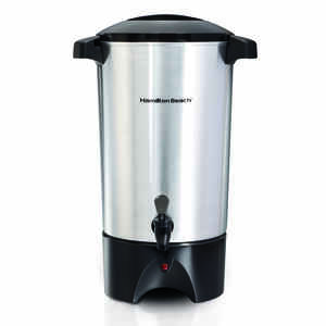Hamilton Beach  45 cups Black/Silver  Coffee Urn