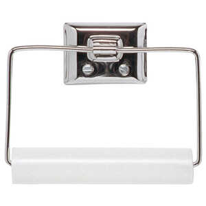Decko  Chrome  Toilet Paper Holder  Silver