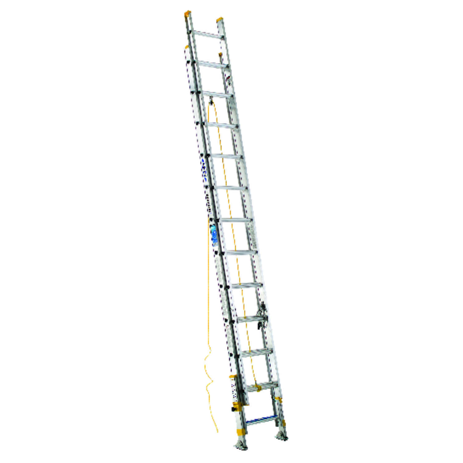 Werner  24 ft. H x 20.75 in. W Extension Ladder  Aluminum  250 lb. Type I
