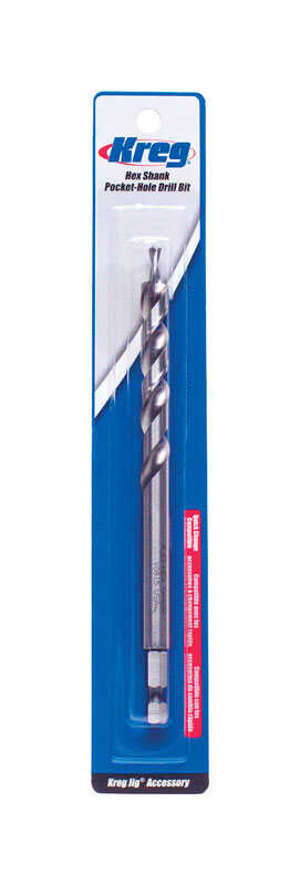 Kreg Tool  3/8 in. Dia. x 9-1/4  L High Speed Steel  Drill Bit  1/4 in. Hex Shank  1 pc.