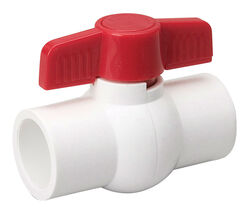 B&K  ProLine  3/4 in. PVC  Slip  Ball Valve  Full Port