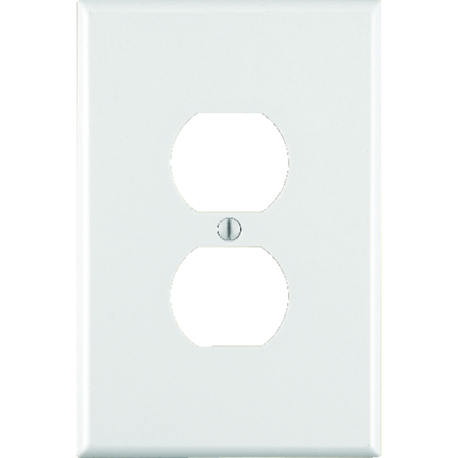 Leviton  White  1 gang Plastic  Wall Plate  1 pk Duplex Outlet