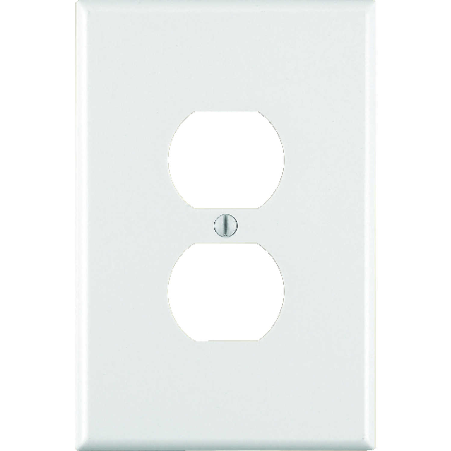 Leviton  White  1 gang Duplex Outlet  Wall Plate  1 pk Plastic