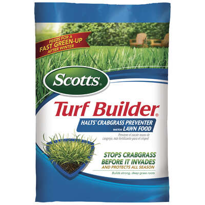 Scotts  Turf Builder with Halts  30-0-4  Crabgrass Preventer with Fertilizer  For All Grass Types 40
