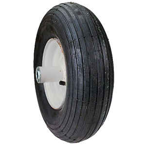 MaxPower  6 in. Dia. Centered  Wheelbarrow Wheel  Rubber  1 pk