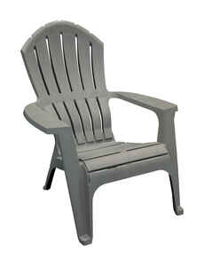 Adams  RealComfort  Gray  Polypropylene  Adirondack Chair