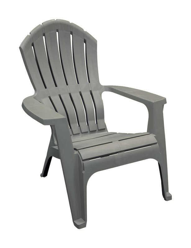 Remarkable Adams Realcomfort 1 Gray Polypropylene Adirondack Chair Evergreenethics Interior Chair Design Evergreenethicsorg