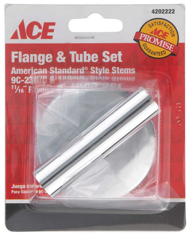 Ace  Brass  Flange and Tube Set  11/16 in. Dia.