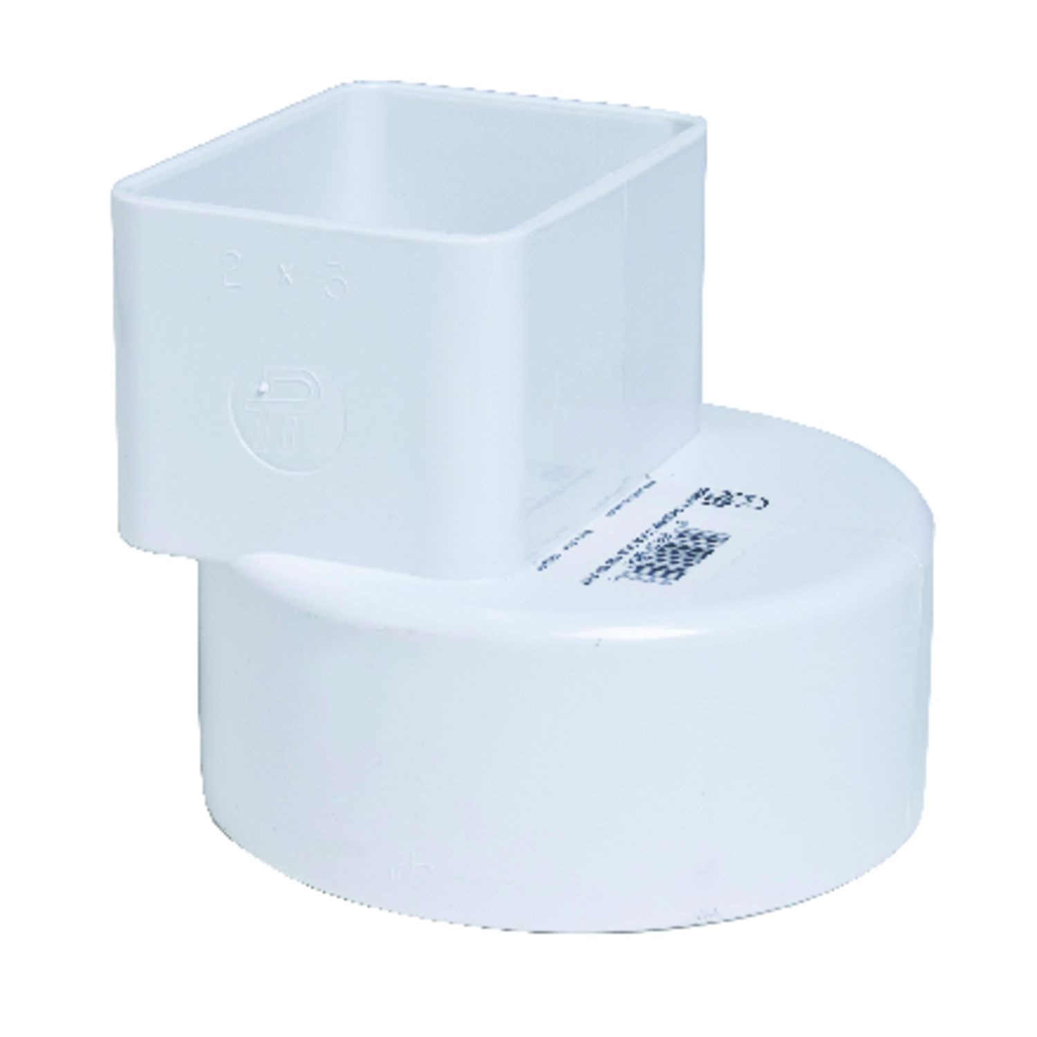 Plastic Trends  2 in. Hub   x 3 in. Dia. Female  Flush Downspout Adapter