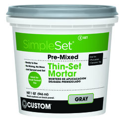 Custom Building Products  SimpleSet  Gray  Thin-Set Mortar  1 qt.