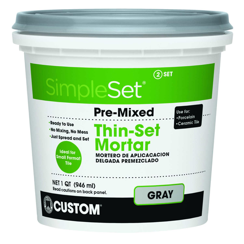 Custom Building Products SimpleSet Gray ThinSet Mortar Oz Qt - Custom blend thin set mortar