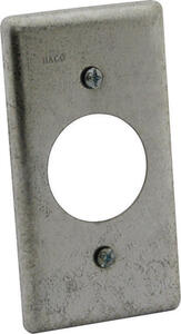 Raco  Rectangle  Steel  1 gang Box Cover  For Single Gang Wall Plate