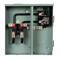 Siemens  200 amps 120/240 volt 2 space 2 circuits Plug-In  Meter Socket and Main Breaker Load Center