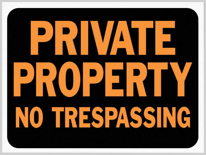 Hy-Ko  English  Private Property - No Trespassing  9 in. H x 12 in. W Plastic  Sign