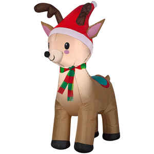Gemmy  Reindeer  Christmas Inflatable  Fabric  1 pk