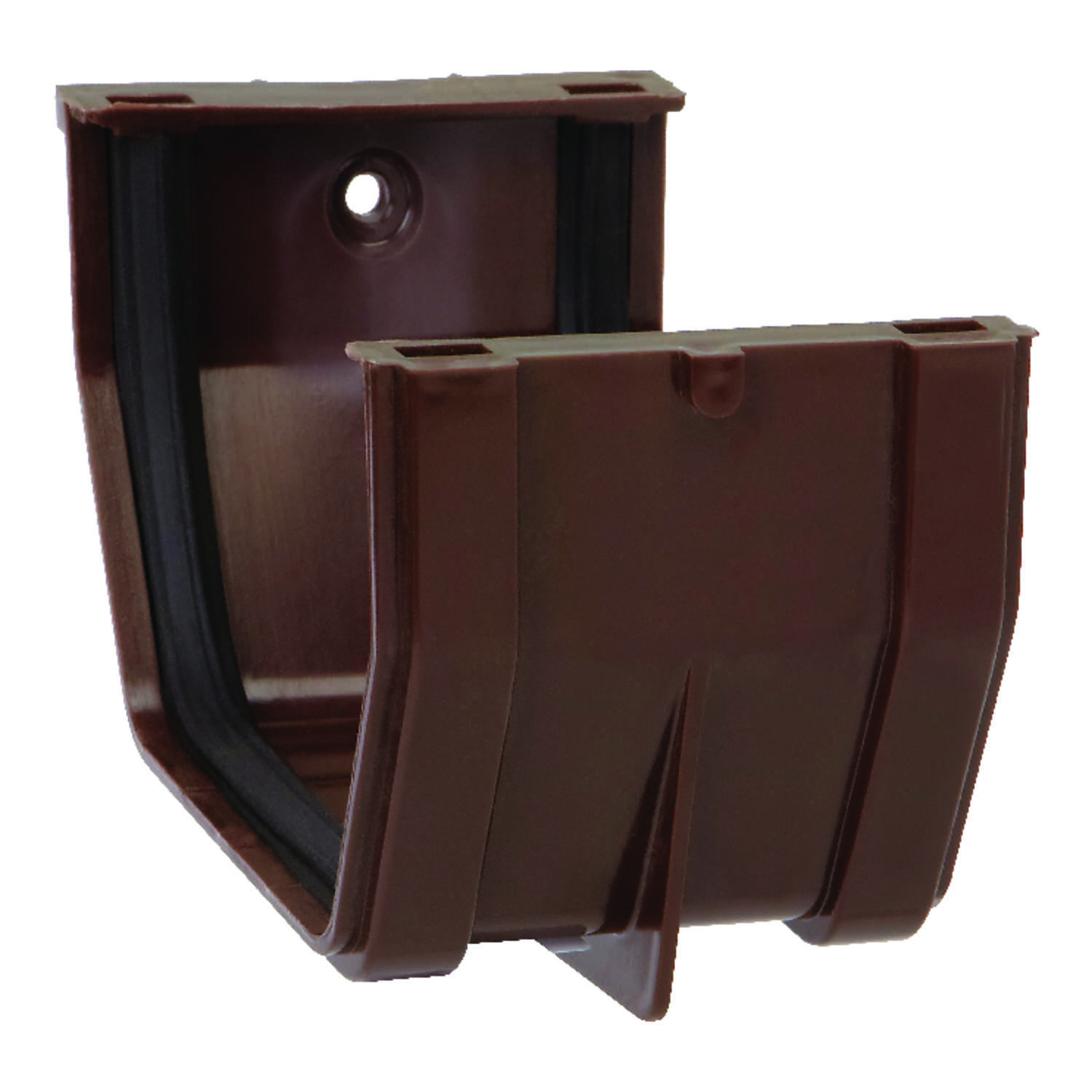 Raingo  5 in. H x 3 in. W x 4.9 in. L Brown  Vinyl  Slip Joint