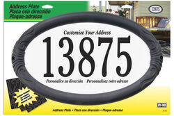 Hy-Ko  Black/White  Plastic  Oval  Address Plate