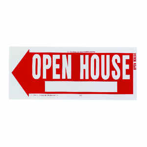 Hy-Ko  English  Open House  Sign  Plastic  10 in. H x 24 in. W