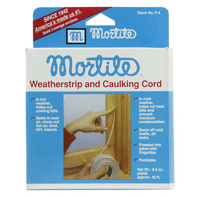 Frost King  Mortite  Gray  Poly Form  Caulking Cord  For Windows 45 ft. L x 1/4 in.