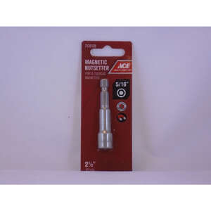 Ace  5/16 in. drive  x 2-1/2 in. L Chrome Vanadium Steel  1/4 in. 1 pc. Quick-Change Hex Shank  Magn
