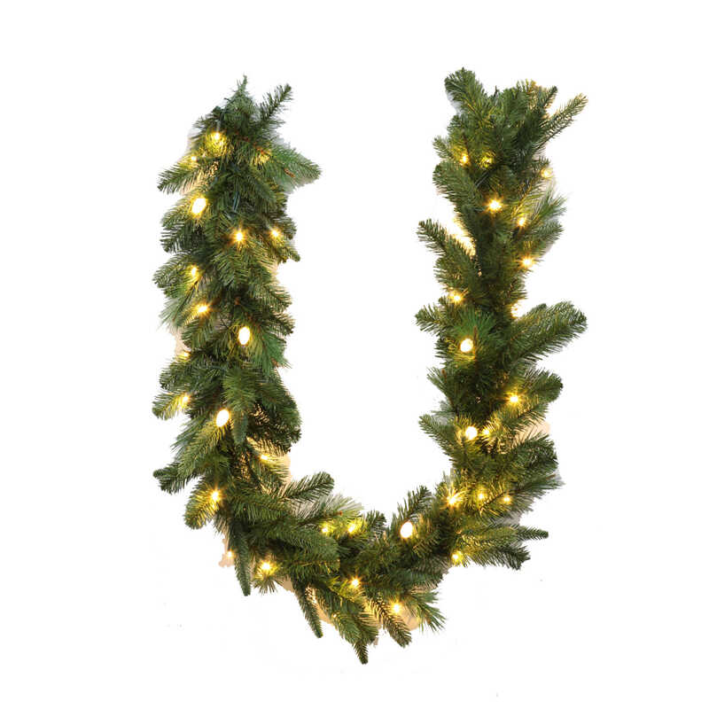 Celebrations  Prelit Green  6 ft. L Warm White  LED Garland