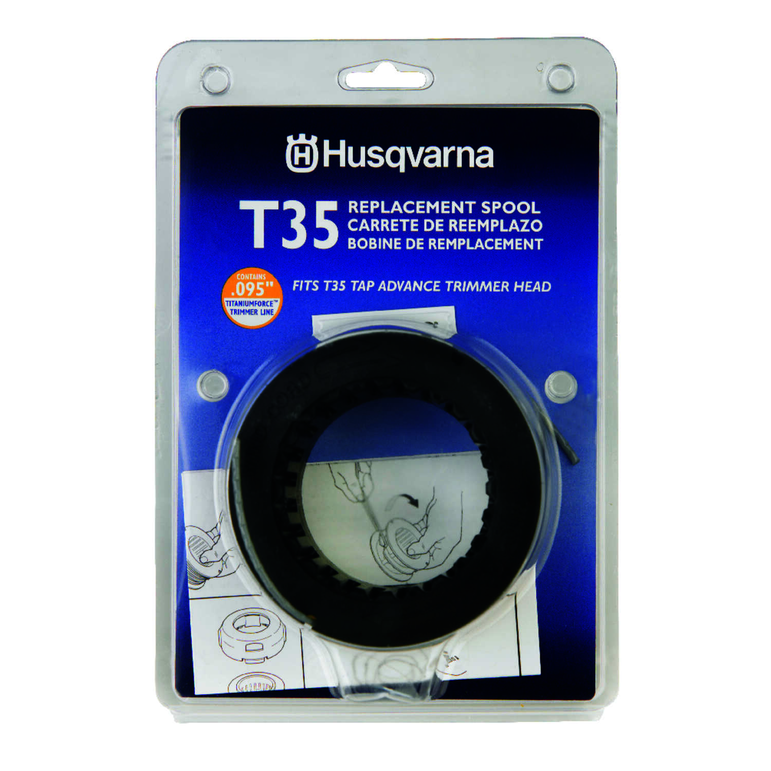 Husqvarna  T35  0.095 in. Dia. x 28  L Replacement Line Trimmer Spool