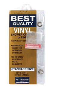 Excell  71 in. W x 70 in. H Frosted  Solid  Shower Curtain Liner