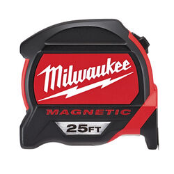 Milwaukee 25 ft. L x 1 in. W Compact Wide Blade Magnetic Tape Measure 1 pk