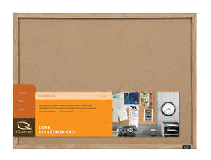 Quartet  17 in. H x 23 in. W Screw-Mounted  Bulletin Board
