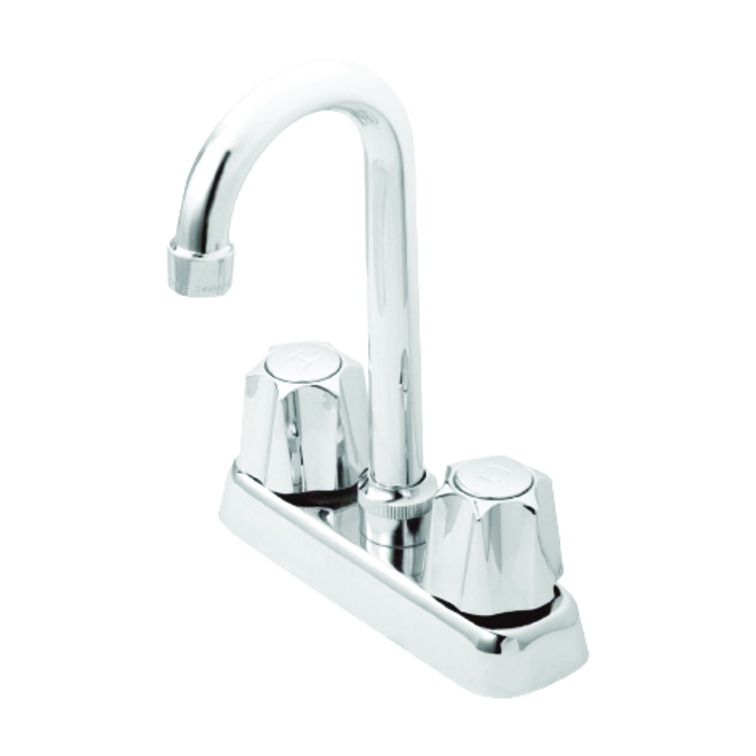 OakBrook Washerless Cartridge Two Handle Bar/Utility Faucet 4 in ...