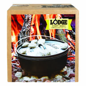Lodge  Logic  Cast Iron  Dutch Oven  12 in. 6 Quarts  Black
