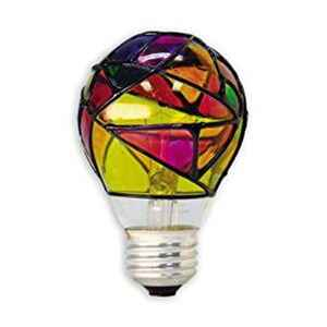 GE Lighting  Stained Glass  25 watts A19  Incandescent Bulb  380 lumens Soft White  A-Line  1 pk