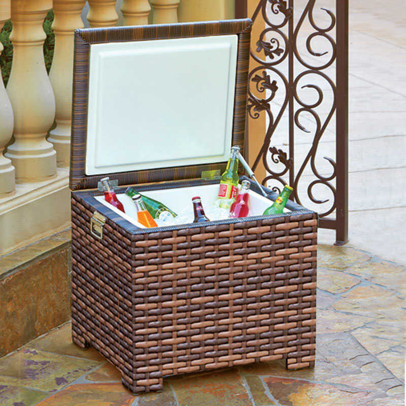Northcape  1 pc. Wicker  Ice Chest  Patio Set