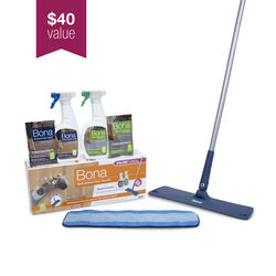 Bona  16.5 in. W Dry/Wet  Floor Care Kit