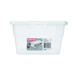 Sterilite  4.875 in. H x 13.625 in. D x 8.25 in. W Stackable Storage Box