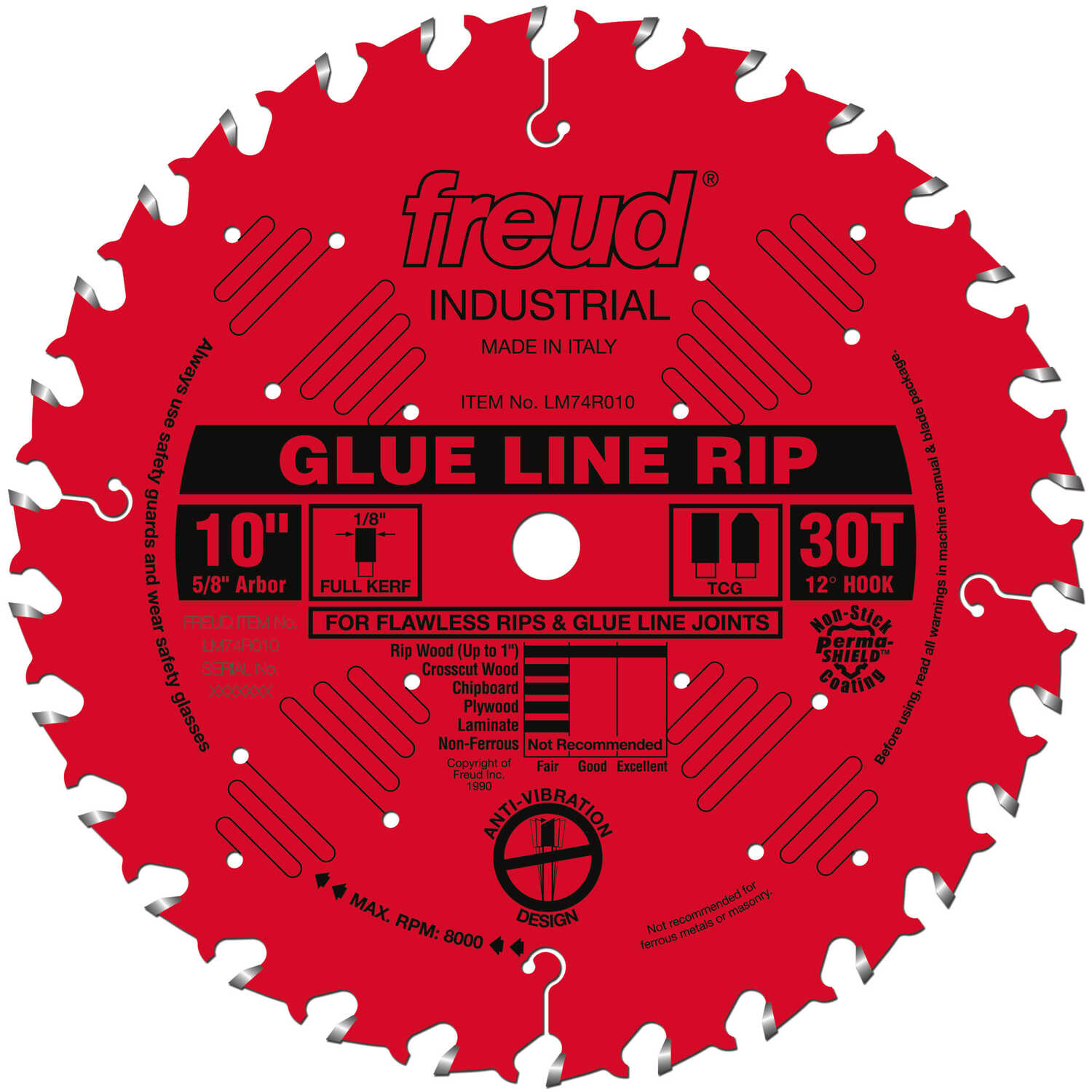 Freud  10 in. Dia. x 5/8 in.  x 0.098 in.  Carbide  Industrial  Saw Blade  30 teeth 1 pk