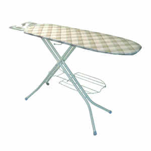 Polder  38 in. H Steel  Ironing Board with Iron Rest  Pad Included
